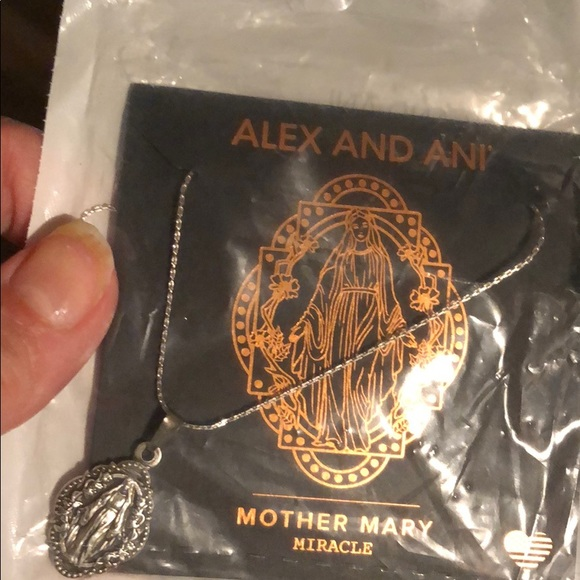 """32/"""" Silver Expandable NECKLACE iii Authentic Alex and Ani Mother Mary"""
